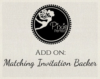 Matching Invitation Backer