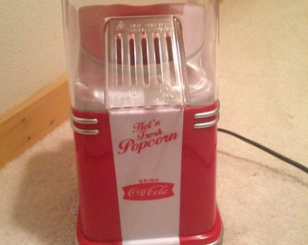 Reproduction Coca Cola popcorn popper. Air popper never been used