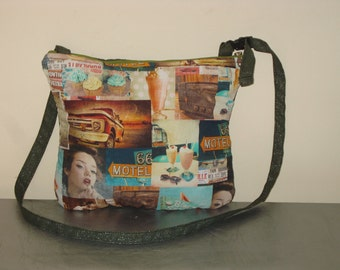 Pin-up retro shoulder bag