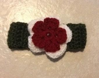 Headband with Double Flower Embellishment