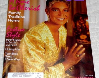 "ESSENCE Magazine, December 1989, Featuring Camile Cosby - ""An Intimate Talk With Camile Cosby"", Good Condition. 132 pages, All Pages Intact"