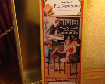 Vintage Fig Newtons - National Biscuit Company - Nabisco Tin