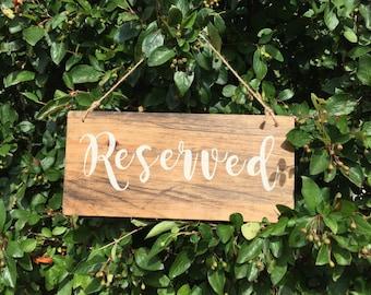 Rustic Wood Wedding Sign- wedding reserved chair sign - reserved wedding sign -  reserved sign for chairs - rustic wedding decor