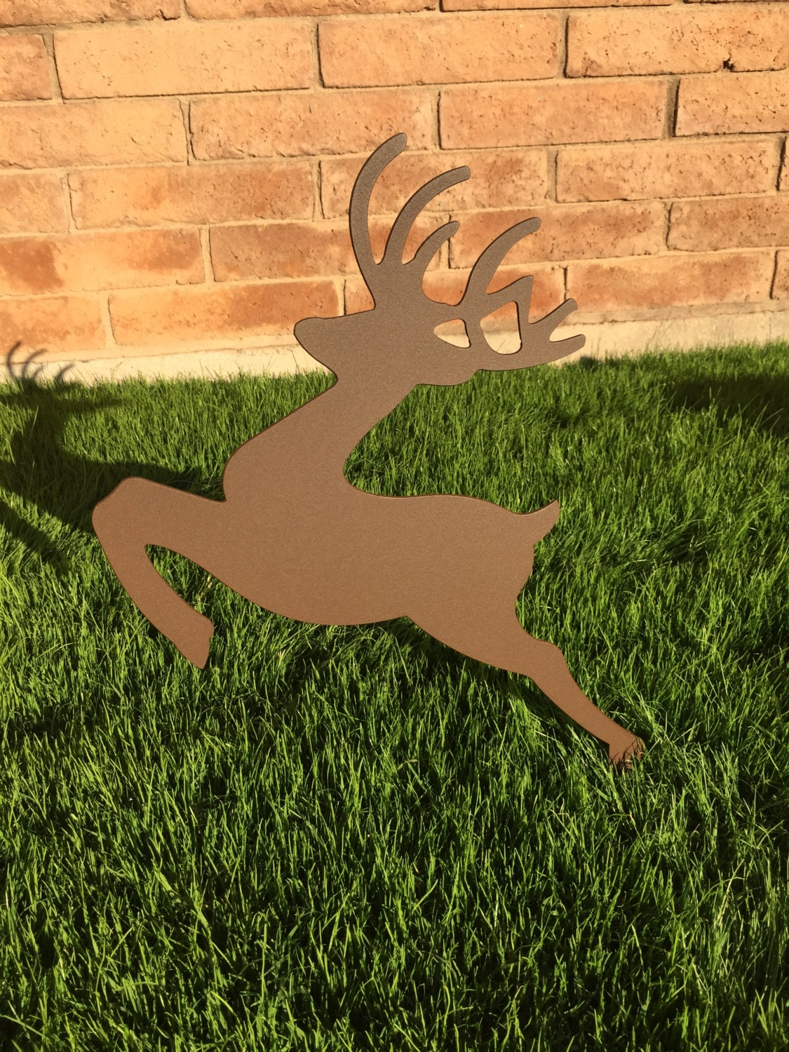 Leaping reindeer 13 metal yard art christmas lawn decor for Christmas deer lawn decorations