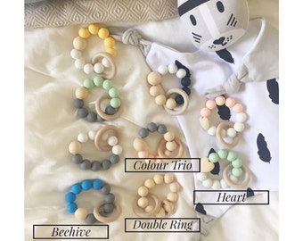 Silicon & Wooden Teething Ring