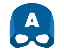 Gallery For gt Captain America Mask Template