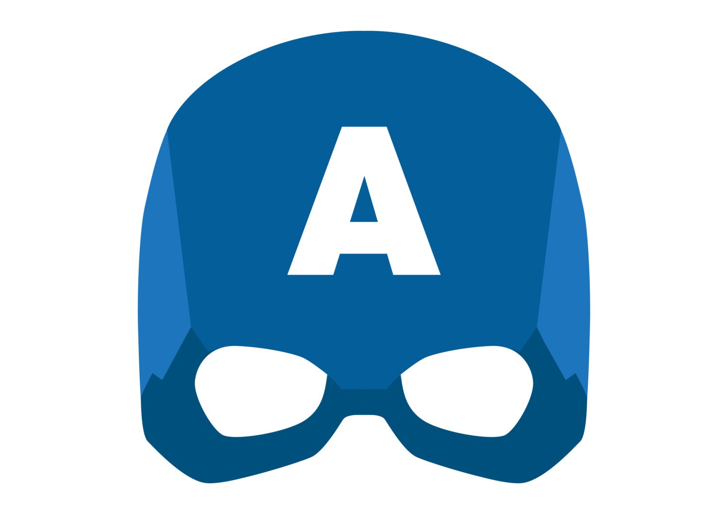 Captain America Printable Mask By Drearts On Etsy