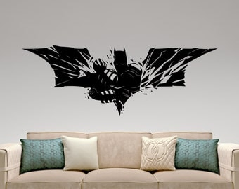 Superieur Batman Wall Decal Super Hero Stickers Marvel Comics Decals Kids Room Decor  Home Interior Wall Art