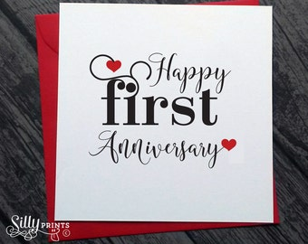 St anniversary card wife etsy