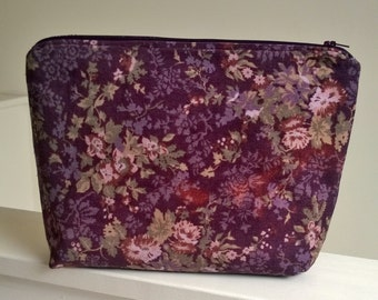 Floral project bag knitting/crochet/spinning