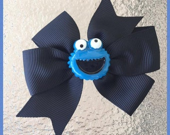 Cookie Monster - Sesame Street Bow
