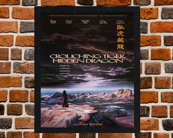 Framed Crouching Tiger, Hidden Dragon Movie / Film Poster A3 Size Mounted In Black Or White Frame