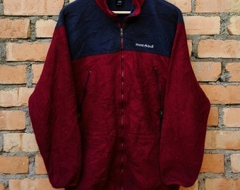 Rare!!! Vintage Mont Bell Jacket Zip Up M Saiz Japan