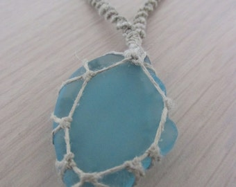 macrame necklace glass bead