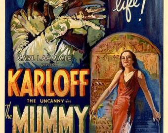 The Mummy - Boris Karloff 1932 Movie Poster print