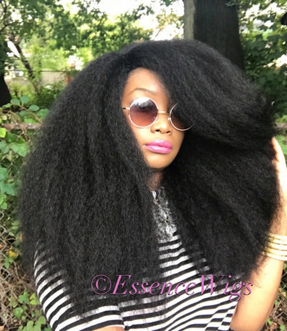 Crochet Hair Unit : ... Kinky Straight Full Cap Crochet Braid Wig Unit 4A Black Wig BIG Hair