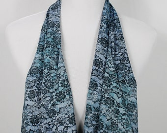 Floral Lace Teal Print Scarf