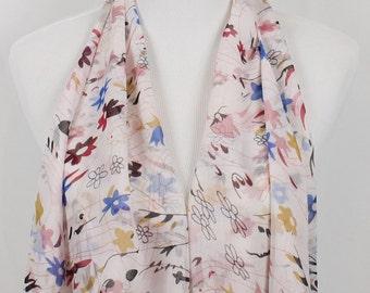 Spring Floral Print Scarf