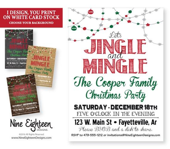 Items Similar To Jingle Mingle Christmas Party Invitation
