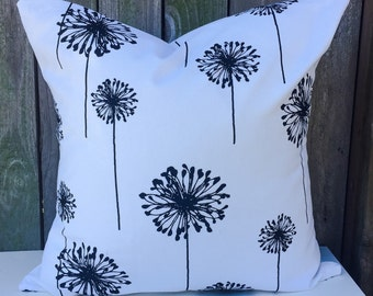 Black and White Decorative Pillow Cover
