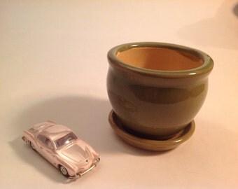 Miniature Green Potting Vase