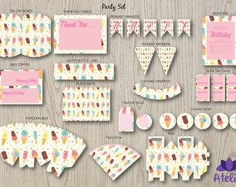 Ice Cream Party Set