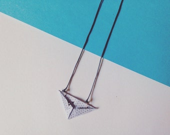 Origami XX Little triangle necklace