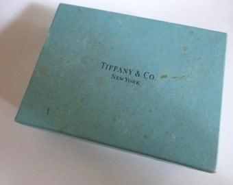 vtg Victorian / Edwardian era TIFFANY Blue Boxdesigner brand name Jewelry Organizer Protector Necklace Bracelet (As Is) FREE Shipping usa