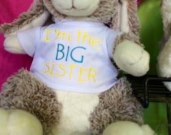 I'm the big sister t-shirt on bunny