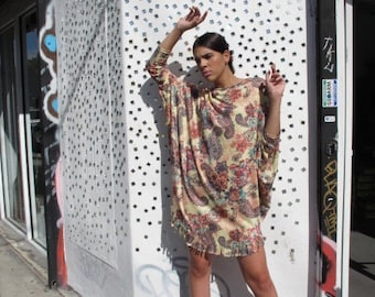 Floral Paisley Poncho