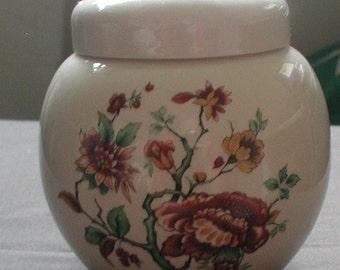 Sadler Ginger Jar Tea Caddy Autumn Floral Design