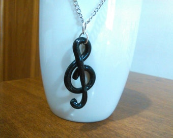 Treble clef in Fimo made by hand!