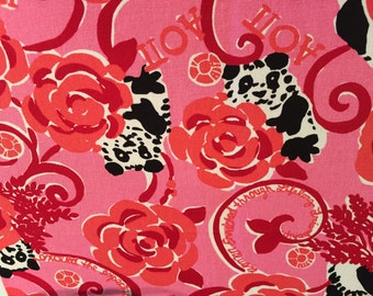 ALPHA OMICRON PI Lilly Sorority Fabric 18x9  inches