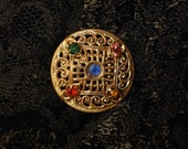 Brass Vintage Button with...