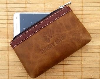 Leather clutch purse. Jimmy Miu