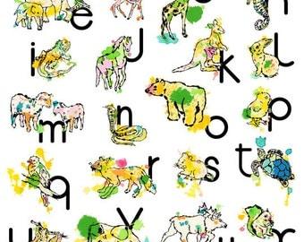 Poster Abécédaire / Animal and alphabet poster
