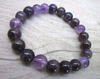 Amethyst bracelet - stones 8mm