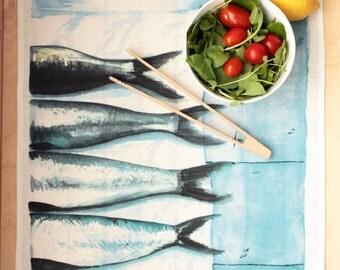 Dishcloth - sardines