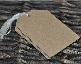 Blank Kraft Gift Tags - Pack of 10, 25 or 50 blank tags made using Recycled Kraft Card