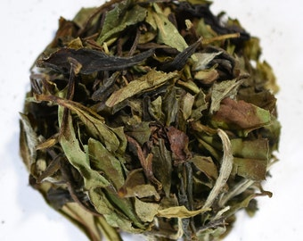 WHITE PEONY | White Tea | Organic | Bai Mu Dan | Whole Leaf | Loose Leaf | Tea Bags | Tea Tin | Iced Tea | Eco-Friendly