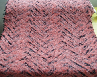 Unique knitted fabric terracotta black 502877