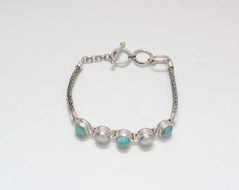 larimar pearl bracelet