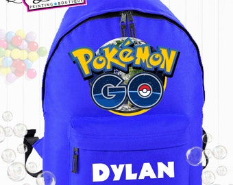 Pokemon Go Personalised School Backpack
