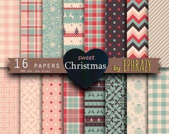 30% OFF AND MORE. Christmas digital paper. Christmas sheets. Christmas pattern. Christmas paper. Christmas plaid digital paper. Pink digital