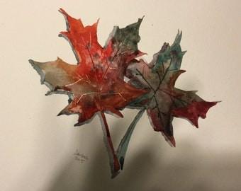 Autumn Colors - Original Watercolor Painting