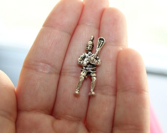 Lacrosse Player Charm