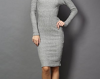 Marled Dress With Open Back