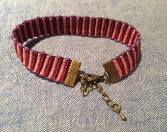 Hand Woven Anklet/Bracelet - Fuchsia