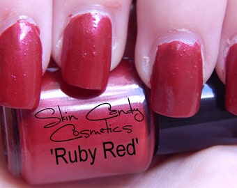 Red Nail Polish - Ruby Red - Nail Lacquer