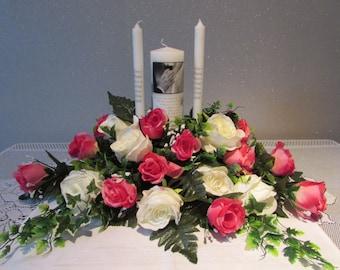 Wedding Top Table / Unity Candle Arrangement Centerpiece Decor